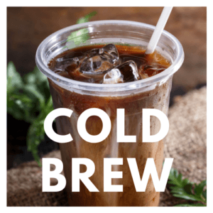cup of cold brew iced coffee